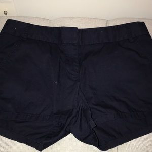 j. Crew chino shorts navy blue